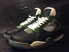 Nike Air Jordan IV 4 Retro OREGON DUCKS PE PROMO SAMPLE BLACK GREEN CEMENT sz 11