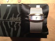 New  Reloj Watch Montre ROBERTO CAVALLI - Esterilla - Steel Acero  Quartz  Nuevo