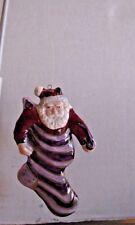 Department 56 Porcelain Santa in a stocking Ornament Nice Q1