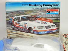 Monogram Billy Meyer Chief 7/11 1985 Ford Mustang Funny Car Dragster Kit