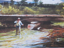 ALDER BROOK A FLY FISHING   PRINT BY CHET RENESON