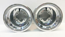 "DWT Polished A5 Rolled Lip ATV Rear Wheel PAIR 10"" 10x10 5+5 4/110 TRX 250R 450R"