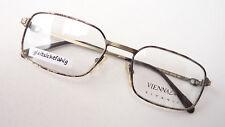 Titan Brillengestell Brille Fassung braun gold Herren eckig leicht Viennaline M