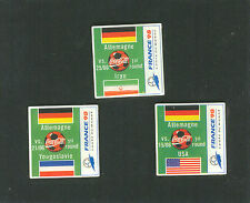 1998 WORLD CUP COCA COLA GERMANY FIRST ROUND MINI SET OF THREE PINS