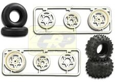 SPIKED TIRE WHEEL SET w HARDWARE Frog Hornet Grasshopper Super Champ Tamiya Tyre