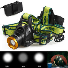 Rechargeable 8000LM 3-Mode CREE XM-L T6 LED ZOOMABLE Headlight Headlamp TLY-19
