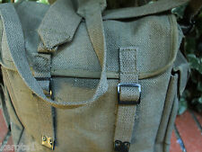 Army Canvas Webbing Haversack Retro Olive Bag 9L Fishing Camping Uni Outdoor