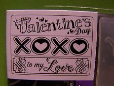 EMBOSSING FOLDER  3 in package HAPPY VALENTINE 'S DAY TO MY LOVE XOXO HEARTS