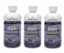 3 PACK Wellesse Iron Supplement Liquid 16 oz (4761367/371401923169)