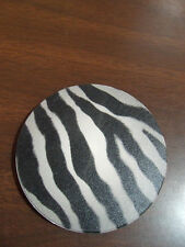ZEBRA PRINT 2CT CAR COASTERS