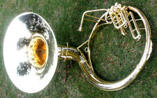 "SOUSAPHONE Shinning Brass 22"" Bb ""Chopra"" 3 VALVE WITH BAG MOUTH PIECE SHIP FAST"