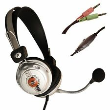 MICROPHONE HEADSET HEADPHONES WITH MIC FOR LAPTOP COMPUTER PC MC302