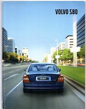 Volvo S80 2001-02 UK Market Sales Brochure Inc Executive