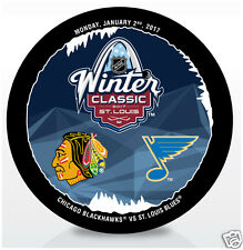 2017 NHL WINTER CLASSIC HOCKEY DUELING PUCK ST LOUIS BLUES vs CHICAGO BLACKHAWKS