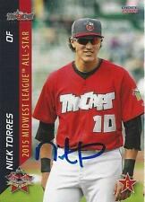 Nick Torres Fort Wayne Tincaps 2015 Midwest League All Star Game Signed Card