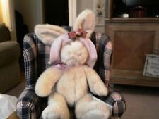 """Russ Brand 13 inch  """"Bonnet"""" bunny with pink hat"""