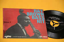 "RAY BROWN 7"" EP TOP JAZZ ORIG ITALY '50 EX ALONE TOGETHRE"
