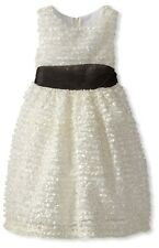 NWT Beautiful Rare Editions Little Girls' Soutach Party Formal Dress Size 6