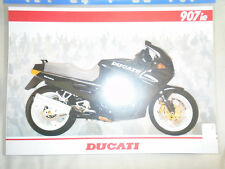 Ducati 907ie motorcycle brochure c1993 French, German & Spanish text