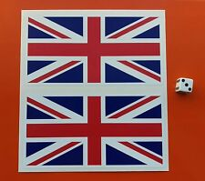 X2 Union Jack flag sticker 150mm   VINYL STICKER Great Britain