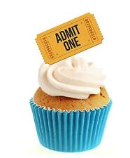 Novelty Ticket Admit One 12 Edible Stand Up wafer paper cake toppers birthday