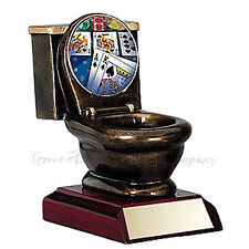 LAST PLACE POKER CARDS TROPHY Toilet Bowl Award