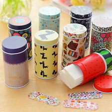 Korea cute cartoon waterproof bandage Band-Aid tin breathable hemostatic paste S