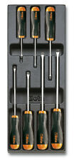 Beta Tools T210 Slotted Screwdriver Set in Tray 7pc