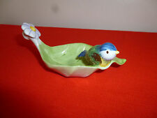 VILLEROY & BOCH ~ LEAF DISH WITH BIRD  ~ EXCELLENT ~