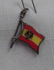 Vintage REU Sterling/Enamel Spain (Franco) Flag Shaped Bracelet Charm - NOS