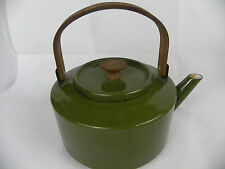 Vintage Copco Michael Lax Green Enamel Tea Pot Kettle Holland.