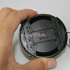 67mm Center Pinch Snap on Front Cap For Sony Canon Nikon Lens Filters Chic0hk