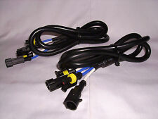 2X (1 PAIR) HID BALLAST AMP HIGH VOLTAGE EXTENSION LEAD HARNESS CABLE 100CM - 1M