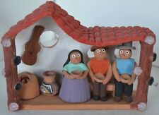 Vintage Peru Clay People Village Building Pottery Makers Terra Cotta Peruvian