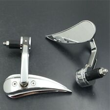 "Chromed mirror fit Honda/Suzuki/Yamaha/Harley for any 7/8"" or 1"" diameter handle"