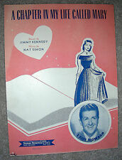 1949 A CHAPTER IN MY LIFE CALLED MARY Sheet Music EDDY HOWARD by Simon, Kennedy