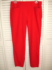 Chervo Sports Womens Golf Pants Stretch Red Sz 8 Small Side Zipper