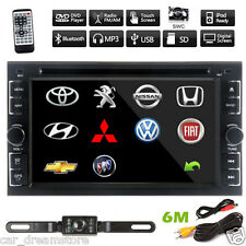"2Din HD 6.2"" In Dash Stereo Car DVD CD Player Bluetooth Radio iPod USB TV No GPS"