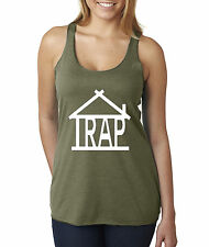 New Way 390 - Women's Tank-Top Trap House Adult Funny Humor