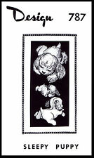"Stuffed Animal Dog TOY Sleepy Puppy Fabric Sewing Pattern 10"" Mail Order #787"