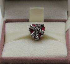 AUTHENTIC PANDORA Gifts of Love, Magenta Enamel & Clear CZ, 792047CZ  #407