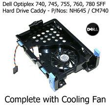 NH645 dell OptiPlex 745 Small Form Factor Hard Drive Caddy HDD CON VENTOLA cm740