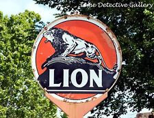 Vintage Lion Gas Station Sign in East Texas (1) - Giclee Photo Print
