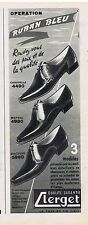 PUBLICITE ADVERTISING 114 1959 CLERGET chaussures pour hommes
