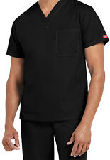 Dickies Medical Men's EDS Signature Black One Pocket Top Sz Medium NWT