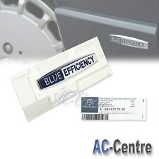 BLUE EFFICIENCY OEM GENUINE SIDE FENDER EMBLEM BADGE for ALL MERCEDES BENZ AMG