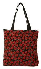 BELGIAN TAPESTRY LARGE SHOPPING TOTE BAG 46CM X 46CM, SMALL POPPIES DESIGN