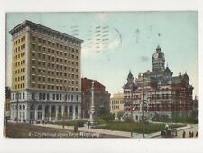 City Hall & Union Bank Winnipeg Canada 1908 Postcard 631a