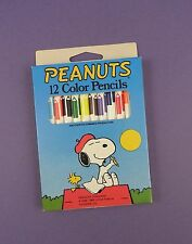 Snoopy 12 Colour Pencils - Peanuts- Vintage Stock - Unused