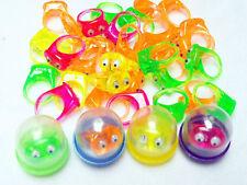 "24X 1"" Capsule Filled Eyes Rings Bulk Vending Toys Kids Party Favor Pinata Gift"